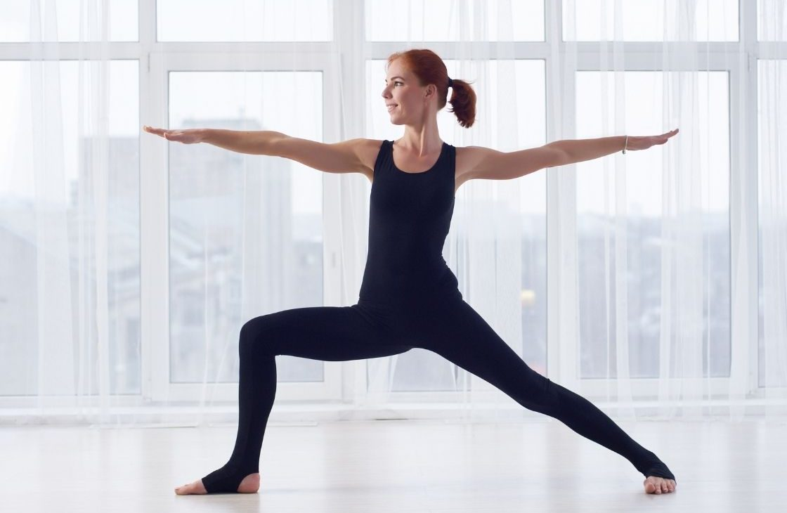 Warrior pose yoga for weight loss