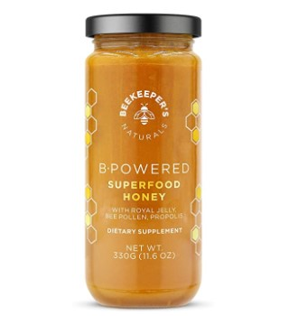 BEEKEEPERS NATURALS B.Powered - Propolis Royal Jelly Bee Pollen Honey 11 6 oz