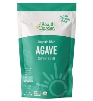 Health Garden Organic Blue Agave Sweetener Crystals Kosher Gluten Free Non GMO Low Carb