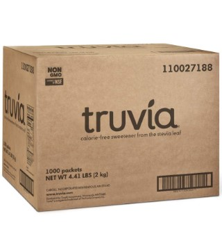 Truvia Natural Stevia Sweetener Packets for diabetics 1000 Count