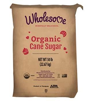 Wholesome Organic Cane Sugar Non GMO Gluten Free 50 Pound