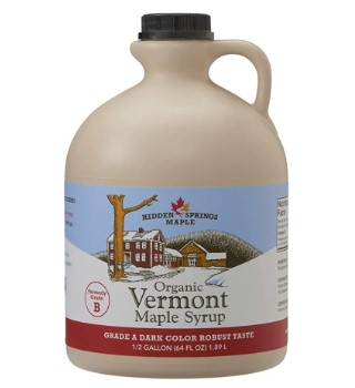 Hidden Springs Organic Vermont Maple Syrup