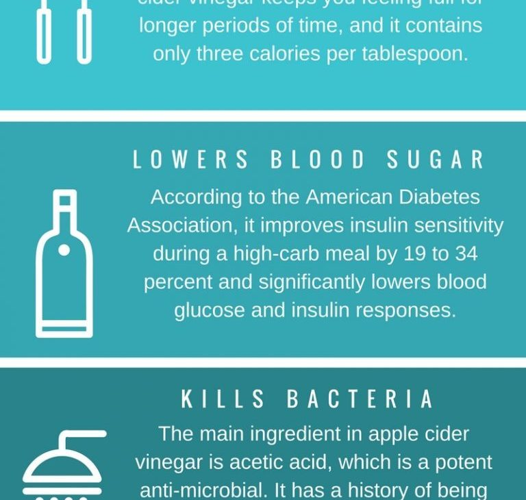 benefits of apple cider vinegar infographic