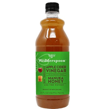 Wedderspoon Apple Cider Vinegar with Monofloral Manuka Honey and the Mother